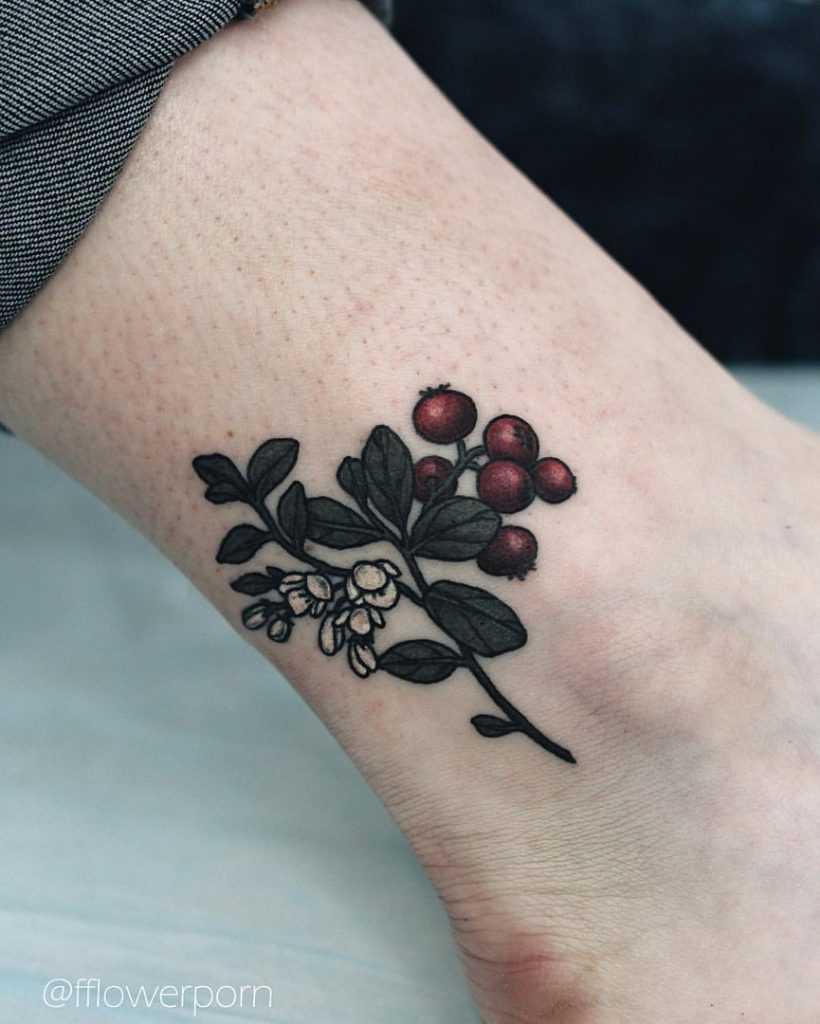 Subtle flower tattoo by olga nekrasova