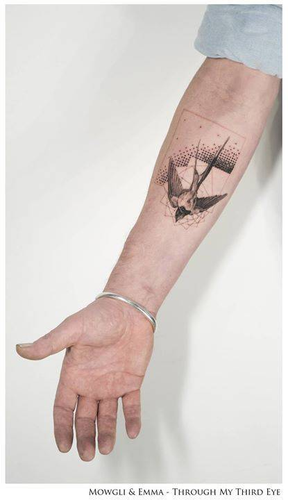Swallow tattoo by mowgli