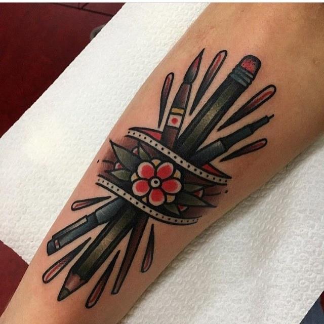 Tattoo for an artist by jeroen van dijk