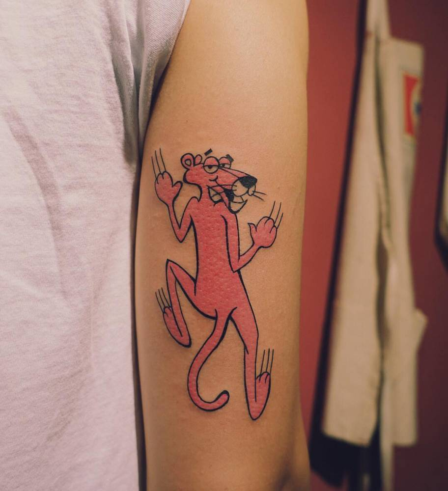 The pink panther tattoo