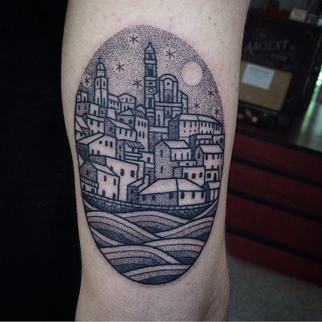 Town tattoo by susanne könig