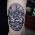 Town tattoo by susanne könig