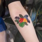 Tropical plants tattoo
