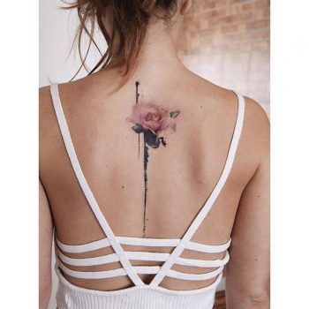 Watercolor rose tattoo by fernando
