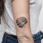 Wavy surface tattoo