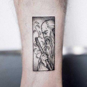 Wizard tattoo by dogma noir