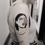 Woman tattoo by brendon welfare