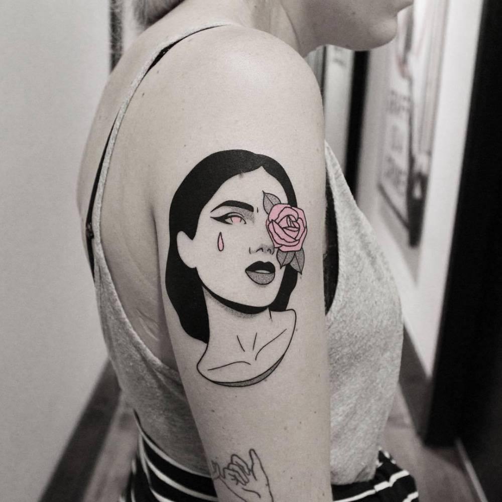 Woman tattoo by brendon welfare