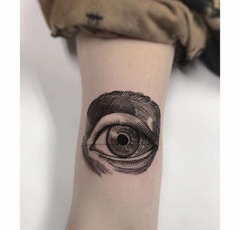 Woodcut eye by charley gerardin