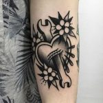 Wrench and heart tattoo by jeroen van dijk