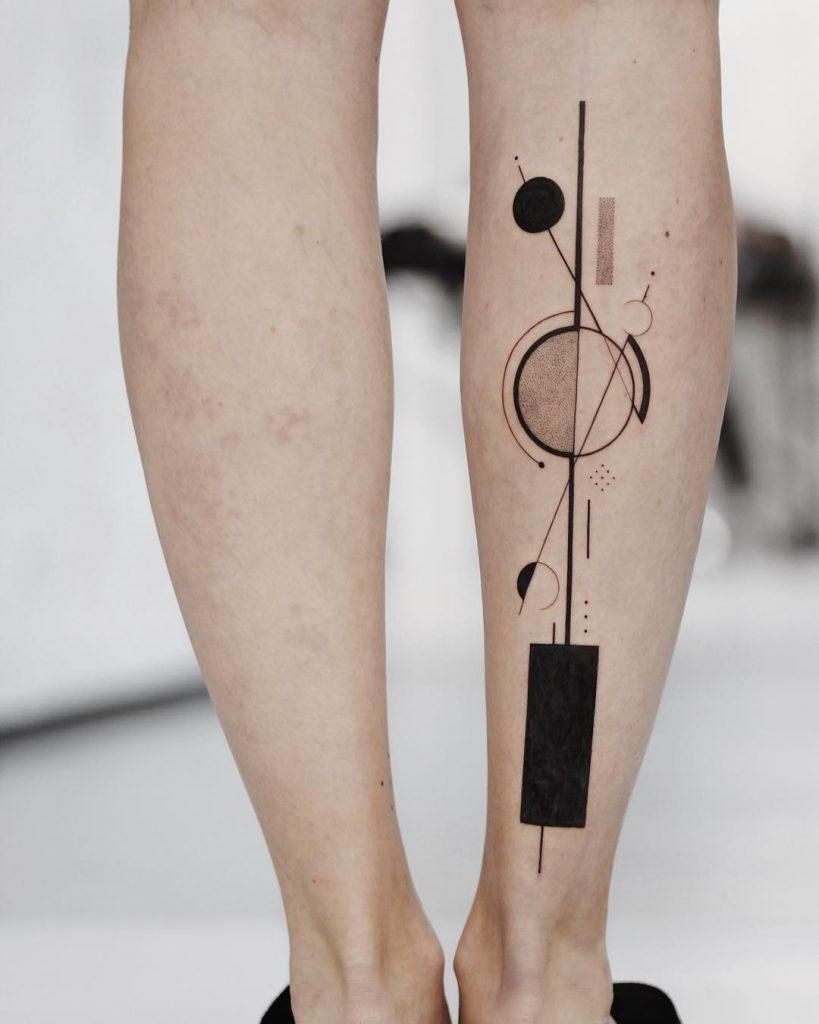 Abstract Kandinsky style art tattoo