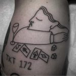 Abstract poker player tattoo