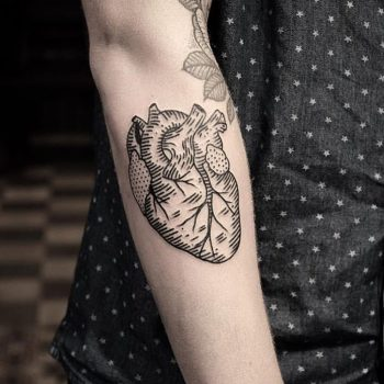 Anatomical heart tattoo by jonas ribeiro