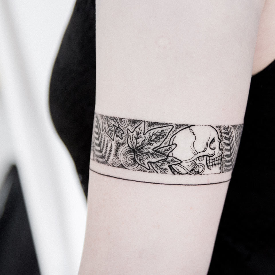 Armband tattoo by Dogma Noir