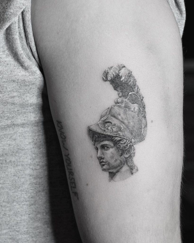 Athena Bust Tattoo Tattoogrid Net
