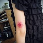 Azalea flower tattoo