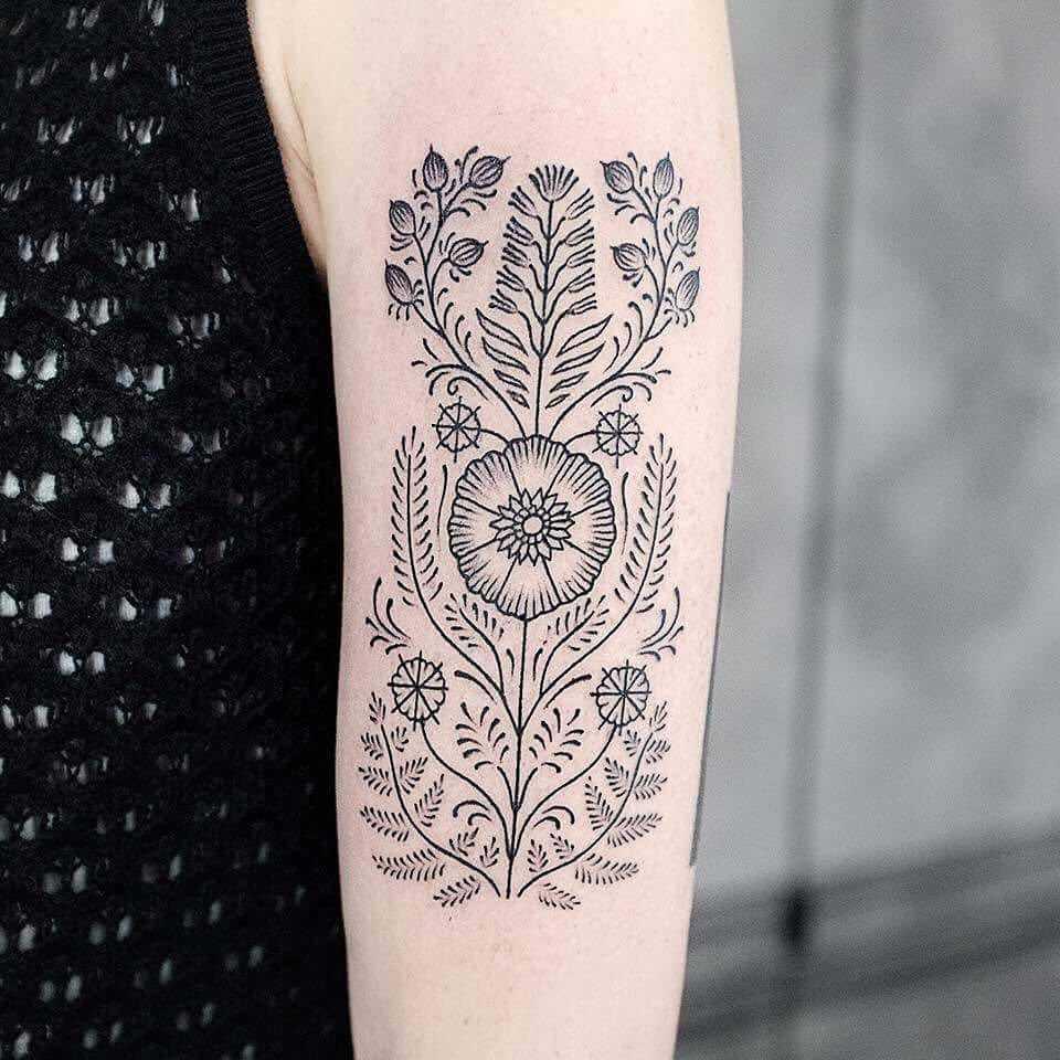 Beautiful ornament tattoo by Dogma Noir