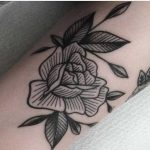 Beautiful rose tattoo by Mikkel