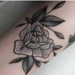 Beautiful rose tattoo by Mikkel