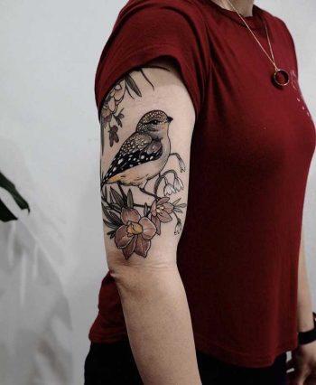 Bird tattoo by Sophia Baughan