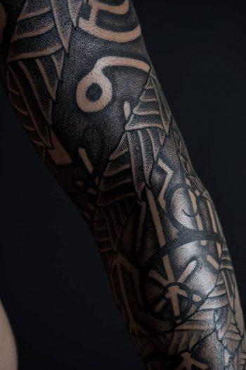 Black pattern tattoo by peter madsen blackhand