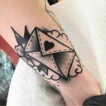 Blackwork love letter tattoo by Jeroen Van Dijk