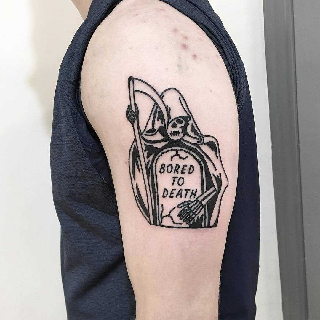 Bored to death by Mr. Preston Tattoo
