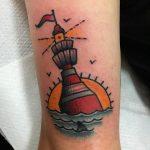 Buoy tattoo by Jeroen Van Dijk