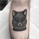 Burgler forx tattoo by Deborah Pow