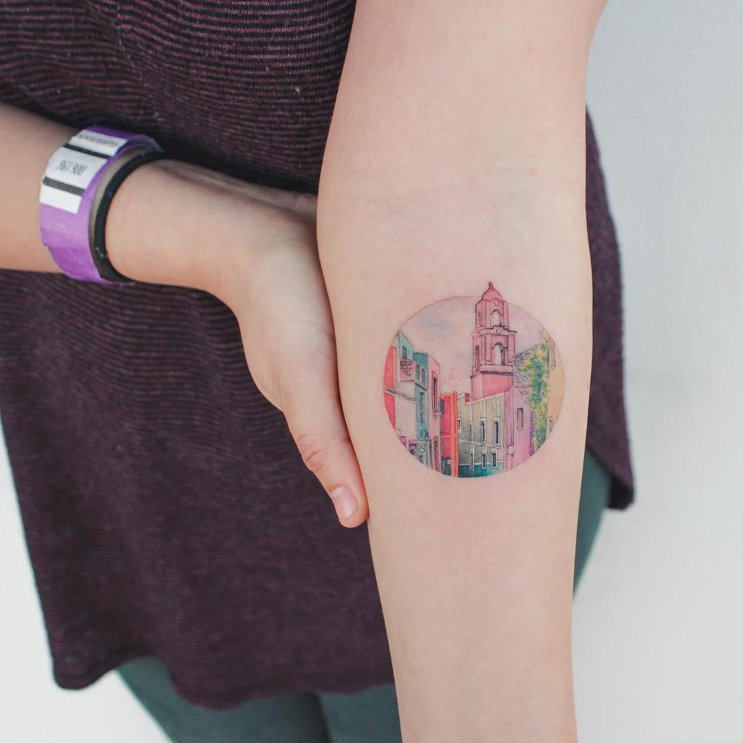 City of Guanajuato in Mexico tattoo