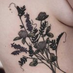 Clover and wild vetch tattoo