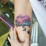 Cosmic scenery tattoo by Andrea Morales