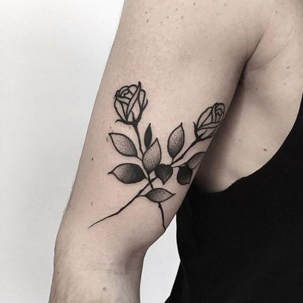 Crossed roses by Jonas Ribeiro