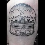 Crystal ball Budapest tattoo by Dorca Borca