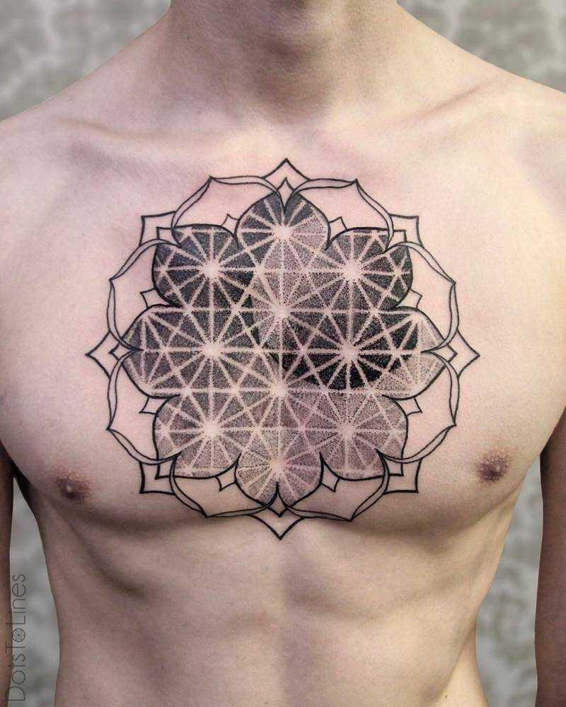 Custom geometry tattoo by chaim machlev