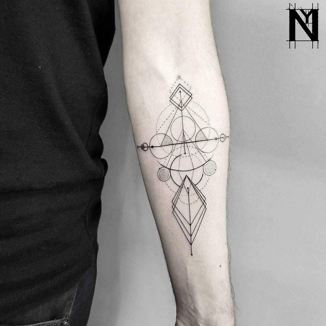 Custom sacred geometry tattoo