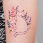 Cute cat tattoo by Jessica Channer