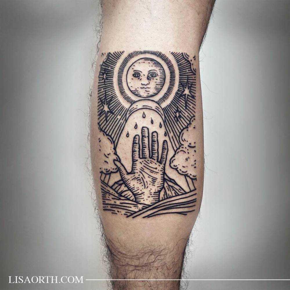 Elemental alchemy tattoo by Lisa Orth