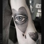 Eye-heart tattoo