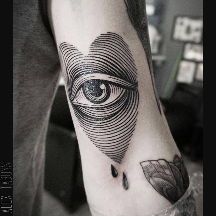Eye-heart tattoo