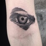 Eye tattoo by Jack Ankersen