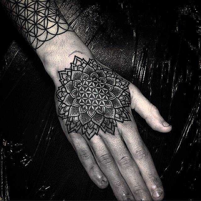 Flower Of Life Mandala Tattoo On The