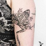 Frog tattoo by Loïc Lebeuf