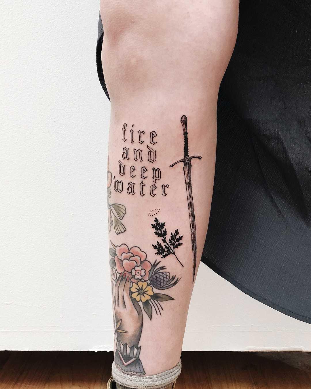 Gandalf's sword Glamdring tattoo