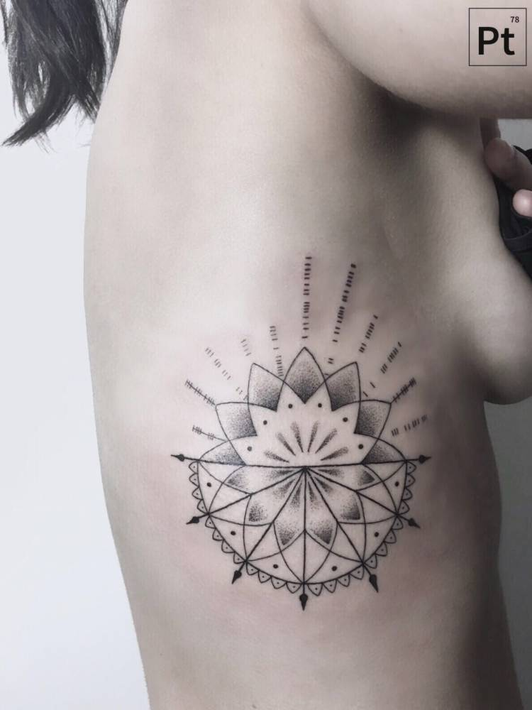Geometric flower and mandala by pablo torre