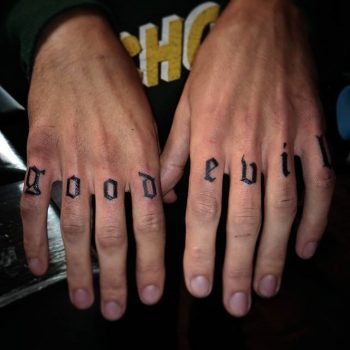 Good and evil tattoo