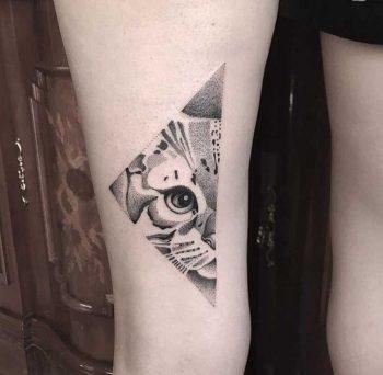 Half cat face by Klaudia Holda