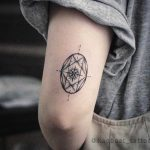 Jewel compass tattoo