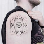Jupiter and geometry tattoo by dogma noir