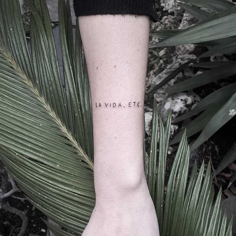 La vida etc. tattoo